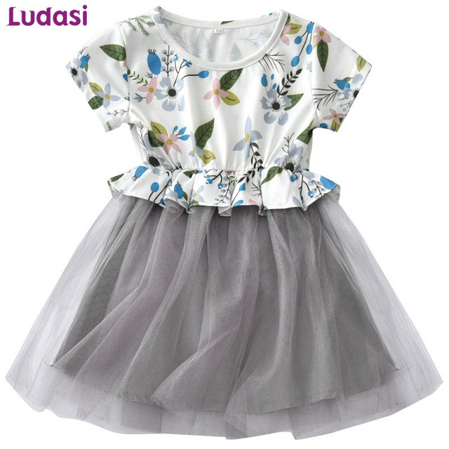 46f2ccf0507 Baby Girls Dress Summer Costume For Kids Clothing 2018 Children Party  Dresses For Girl Clothes Floral