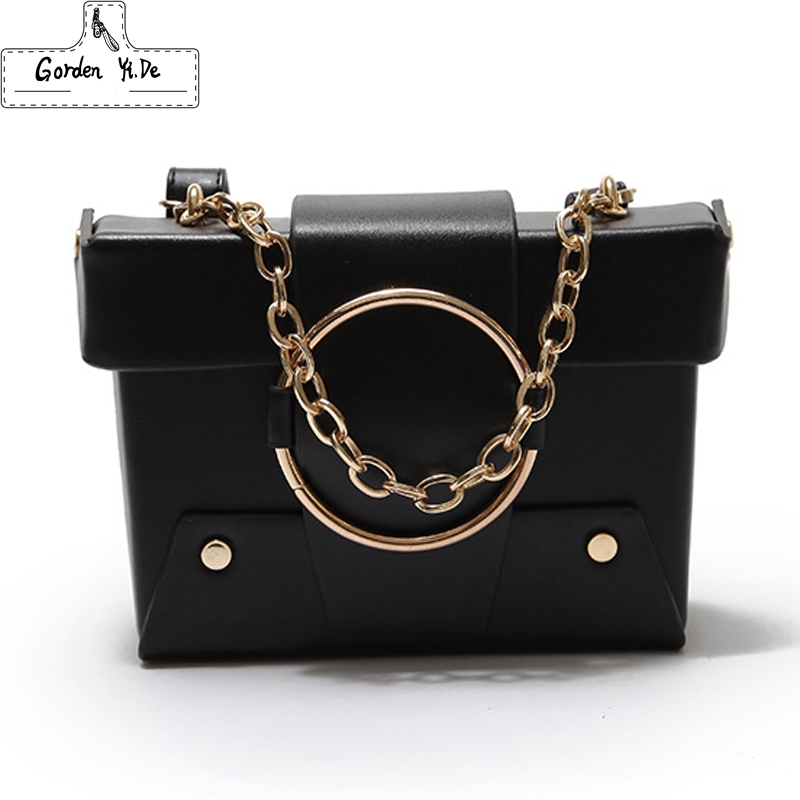 Simple Chain ring Leather Mini Women Crossbody bags Small Women Splice Bag Messenger Shoulder Sling Purse Lady Handbag with Pink lacattura small bag women messenger bags split leather handbag lady tassels chain shoulder bag crossbody for girls summer colors