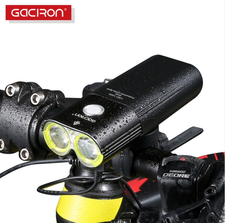 GACIRON Professional 1600 Lumens Bicycle Light Power Bank Waterproof USB Rechargeable Bike Light FlashlightGACIRON Professional 1600 Lumens Bicycle Light Power Bank Waterproof USB Rechargeable Bike Light Flashlight