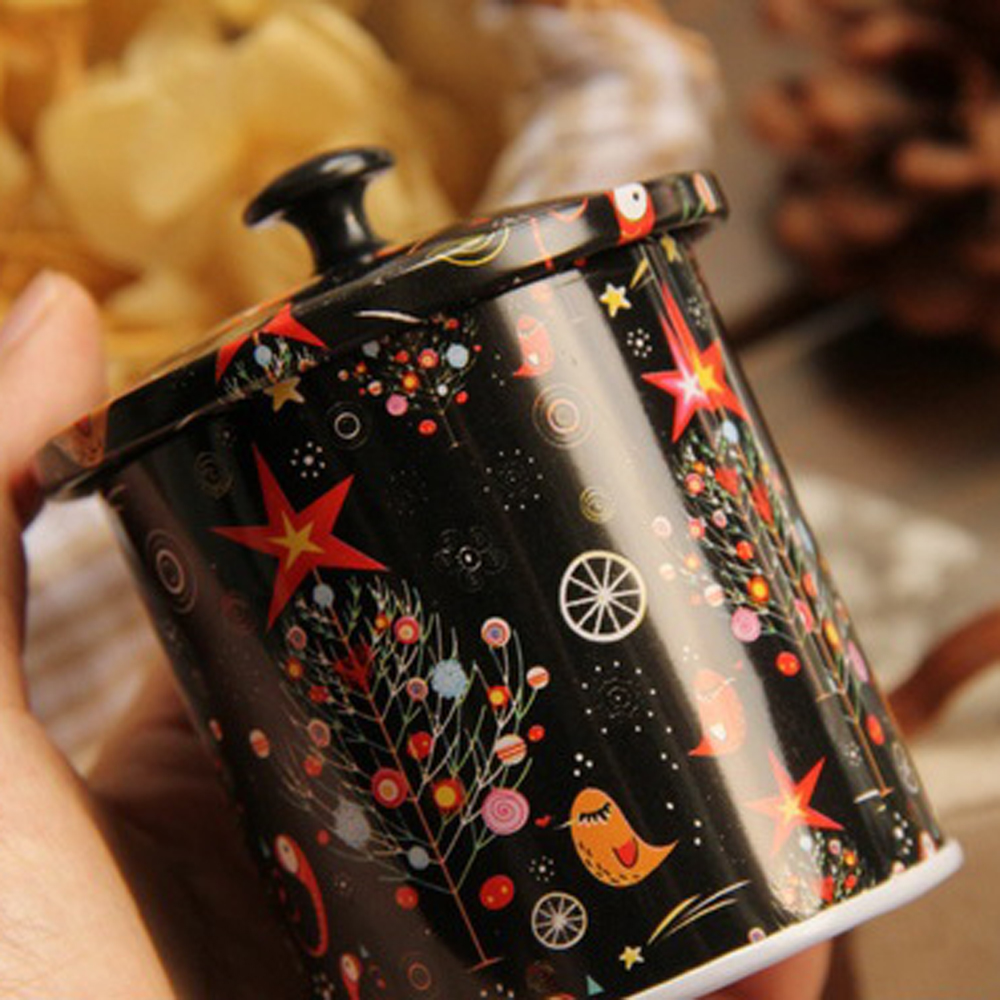 3 Unids / lote Nuevo KEYAMA Cajas de lata de té o dulces con tapa - Organización y almacenamiento en la casa - foto 5
