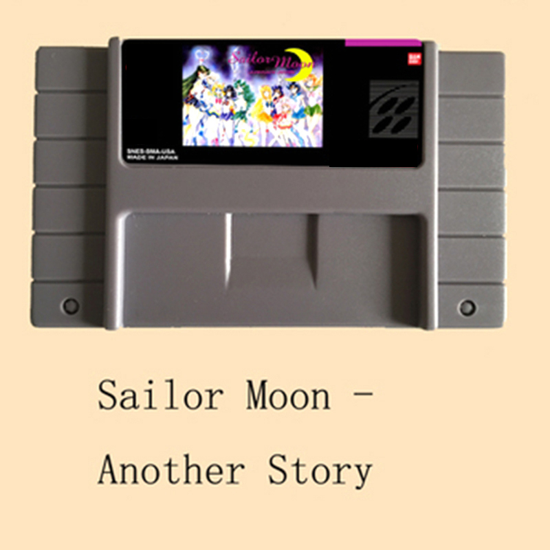 Sailor Moon Another Story 16 bit Big Gray Game Card For NTSC/PAL Game Player