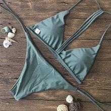 Solid Women Bikini Set 2019 Micro Swimwear Push-Up Brazilian Padded Solid Bra Swimsuit Beachwear Swimming Suit Biquini#0