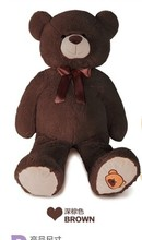 the lovely bear toy plushed toy cute bow stuffed teddy bear birthday gift about 70cm dark brown