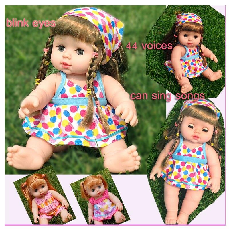 Հետաքրքիր խոսող վինիլային տիկնիկներ Տղաներ Աղջիկներ Սիմուլյացիա Մանկական տիկնիկ խաղալիք թարթող աչքերն արտադրում են 44 ձայն 360 պտտվող մարմնի մասերի տիկնիկներ