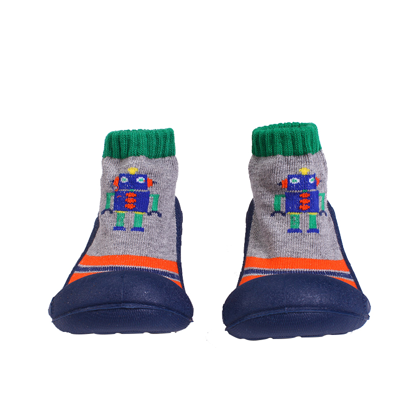 Comfortable Breathable Socks Cartoon Robot Soft Rubber Floor Socks Shoes.Y07R