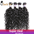 Raw Indian Curly Virgin Hair 4 Bundles Lot Indian Deep Wave Curly Weave Top Grade BLACK IN Virgin Human Hair Extension On Sale