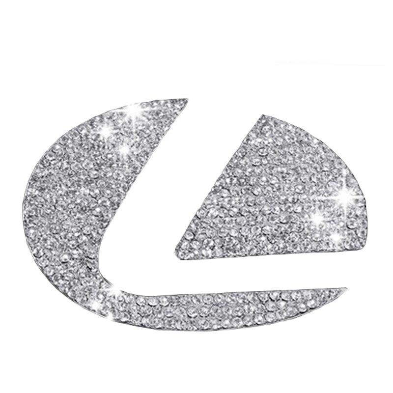 DSYCAR en alliage De Zinc Voiture irecteur roue autocollants logo Emblème Stickers Badge Voiture-styling Modification pour Lexus es/es200 nx/nx200 rx
