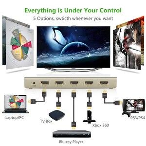 Image 3 - UGREEN HDMI التبديل 4K x 2K 5 ميناء 5 في 1 مقسم الوصلات البينية متعددة الوسائط وعالية الوضوح (HDMI) الجلاد صندوق يدعم ثلاثية الأبعاد متوافقة ل HDTVs بلو راي اللاعبين Xbox PS3/4