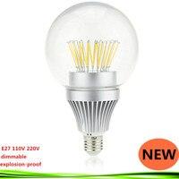 NOVA lâmpada LED E27 110/220 V 15 W 20 W 25 W 30 W regulável quente/frio branco lampadas Incandescentes Filamento Da Lâmpada levou luz à prova de explosão-