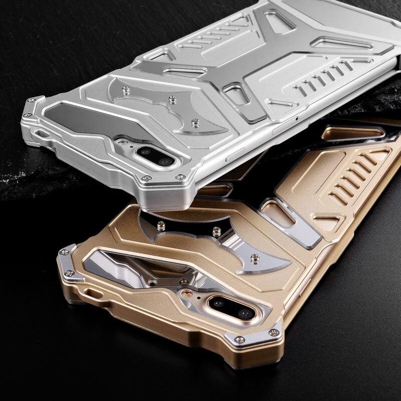 bilder für REFUNNEY Iron Man Luxus Aluminiummetallstoßkasten für iPhone 7 Plus Telefon Abdeckung Coque Capinha Gold Silber Schwarz
