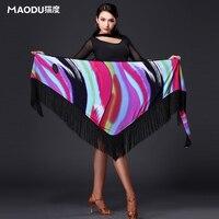 New Modern Quality Latin Dance Tassel Triangle Towel Skirt For Women Female Girl Lady Fashion Costume