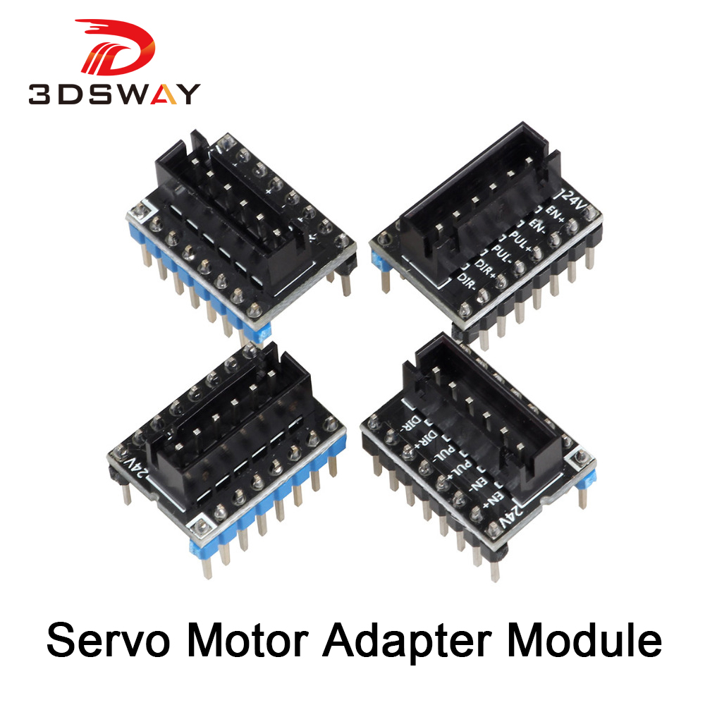 3DSWAY 3D Printer Part 4pcs/lot External High Power Switching Module For Microstep Driver Lerdge 3D Printer Board Adapter Module