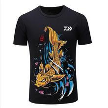 Новая рыболовная одежда Daiwa быстросохнущая Защита от солнца рыболовные рубашки анти-УФ рыболовная одежда Спортивная футболка с коротким рукавом