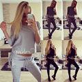 Fashion Women Set Tracksuit Hoodies Long Sleeve Sweatshirt Pants Sets Wear Casual Suit Size 6-14