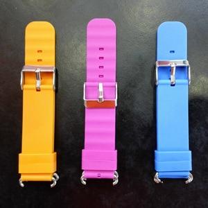 Image 1 - Remplacer le bracelet de montre intelligente pour le bracelet de montre Q90 Q750 Q100 Q60 Q80 bracelet de surveillance GPS pour enfants bracelet en Silicone avec connexion