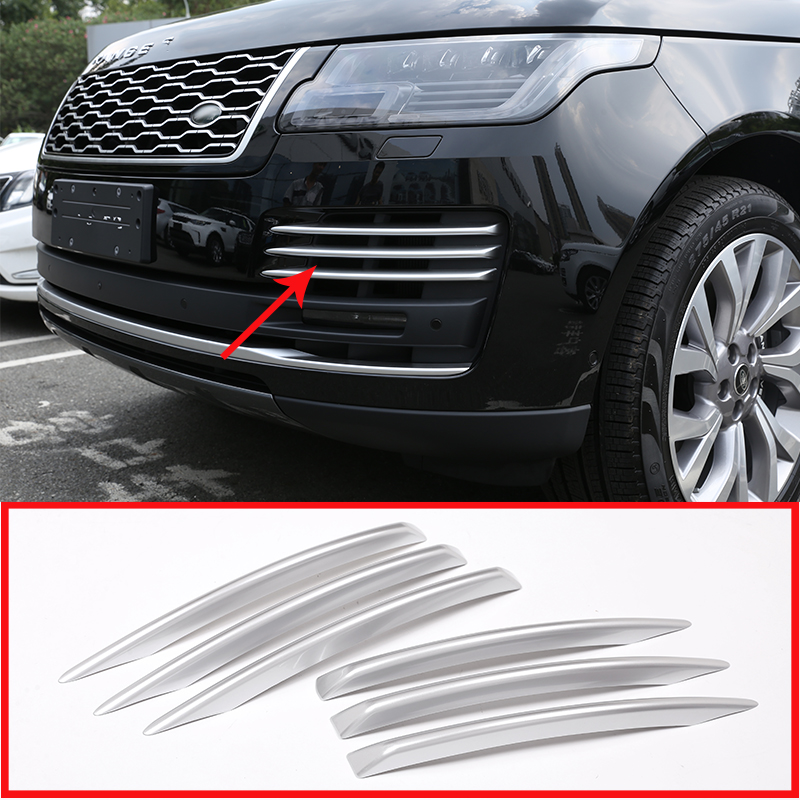 6 Pcs For Land Rover Range Rover Vogue 2018 Car Styling ABS Chrome Front fog light