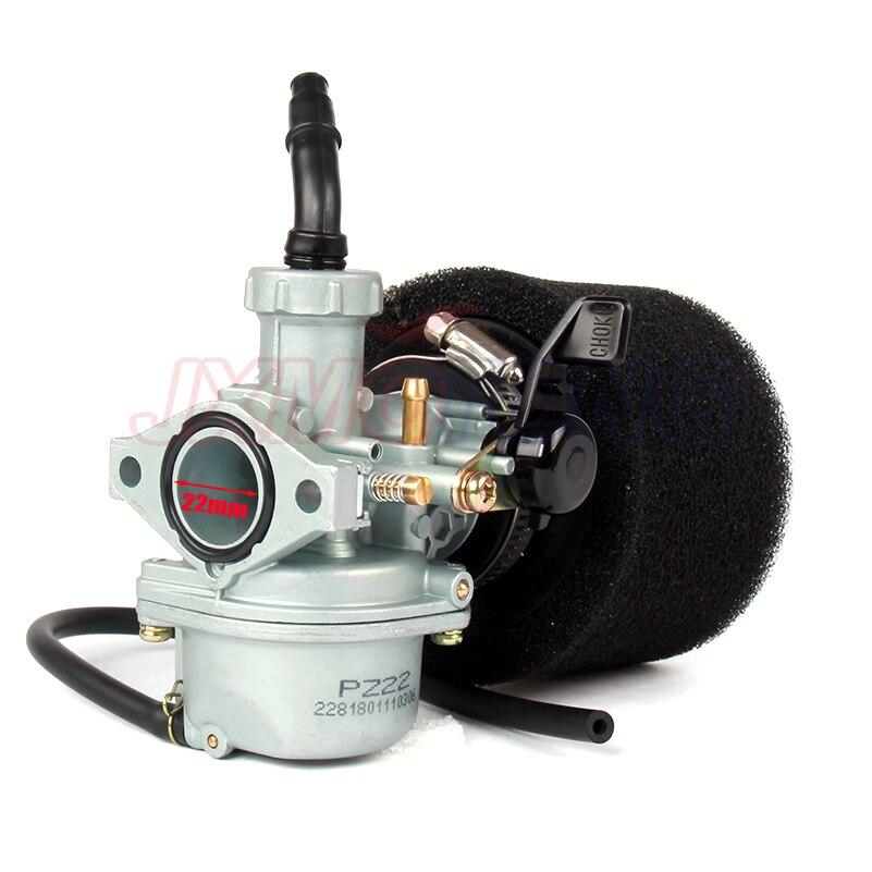 Image 4 - Engine PZ22 22mm Carburetor & 38mm Air Filter For Keihin 125cc KAYO Apollo Bosuer xmotos Kandi dirt/pit bikes monkey bikes ATV-in Carburetor from Automobiles & Motorcycles