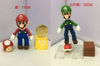 Free Shipping Game Super Mario & Luigi Mario Brothers SHF Ver. Boxed 12cm PVC Action Figure Collection Model Doll Toy Gift