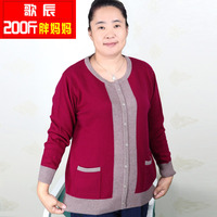 Mother Clothing Autumn Plus Size Plus Size Sweater Female Quinquagenarian 200 Pullover Sweater Plus Size