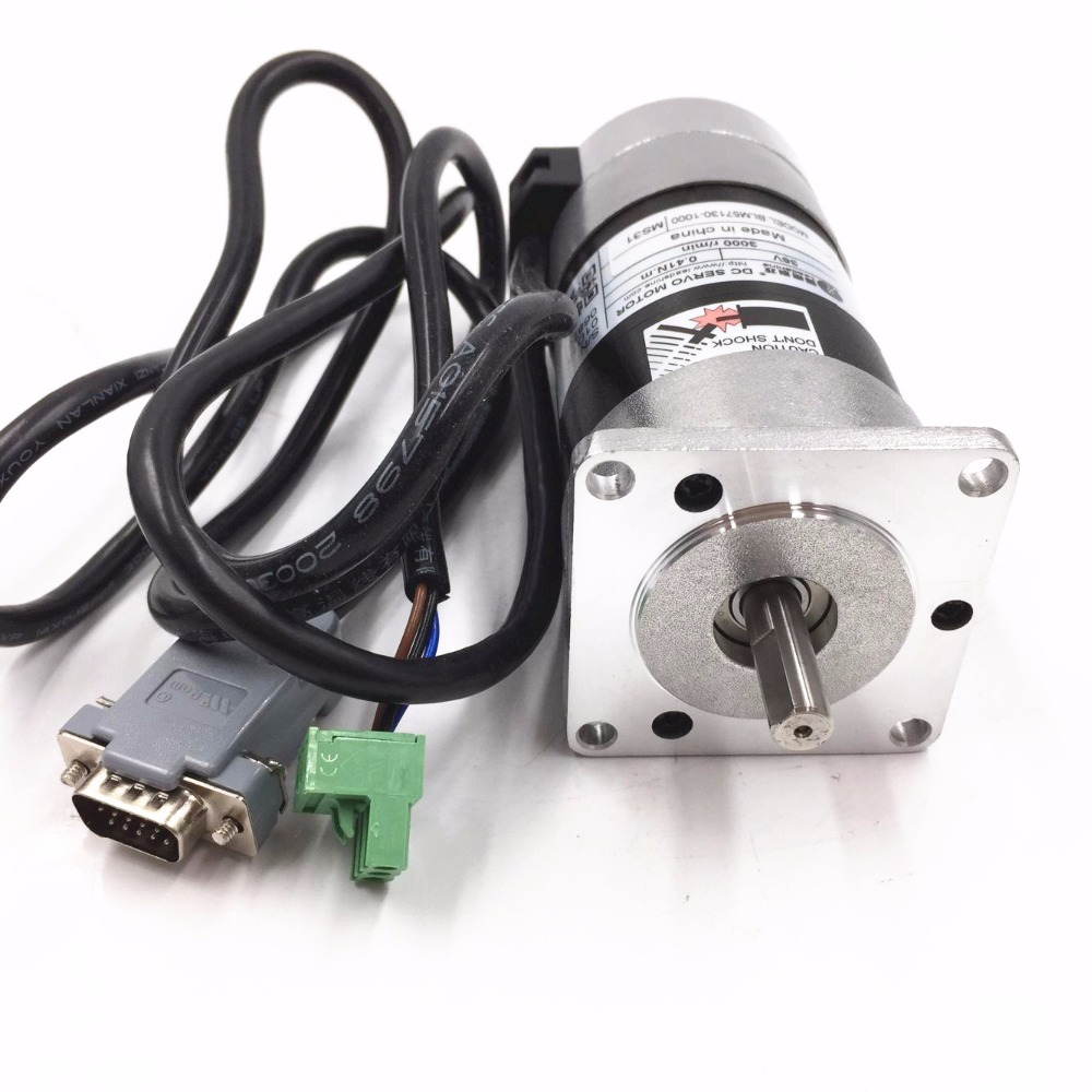 New Original Leadshine 130W Brushless Servo Motor BLM57130-1000 36V DC Motor 5.3A 0.41NM 3000RPM leadshine 200w brushless ac servo drive and motor kit acs806 acm602v60 2500 new