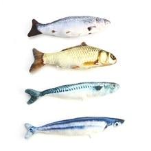 30 см Cat игрушки интерактивные Сайра испанский скумбрия Cat мышь перо Чик рыбы школа Mascotas высокая моделирования рыбы