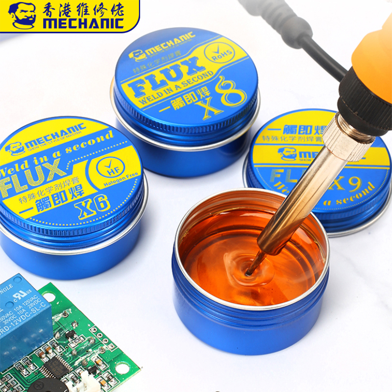 MECHANIC Rosin Flux Solder Paste X6/X8/X9 BGA Soldering Paste Flux For Welding Soldering Iron Fluxes