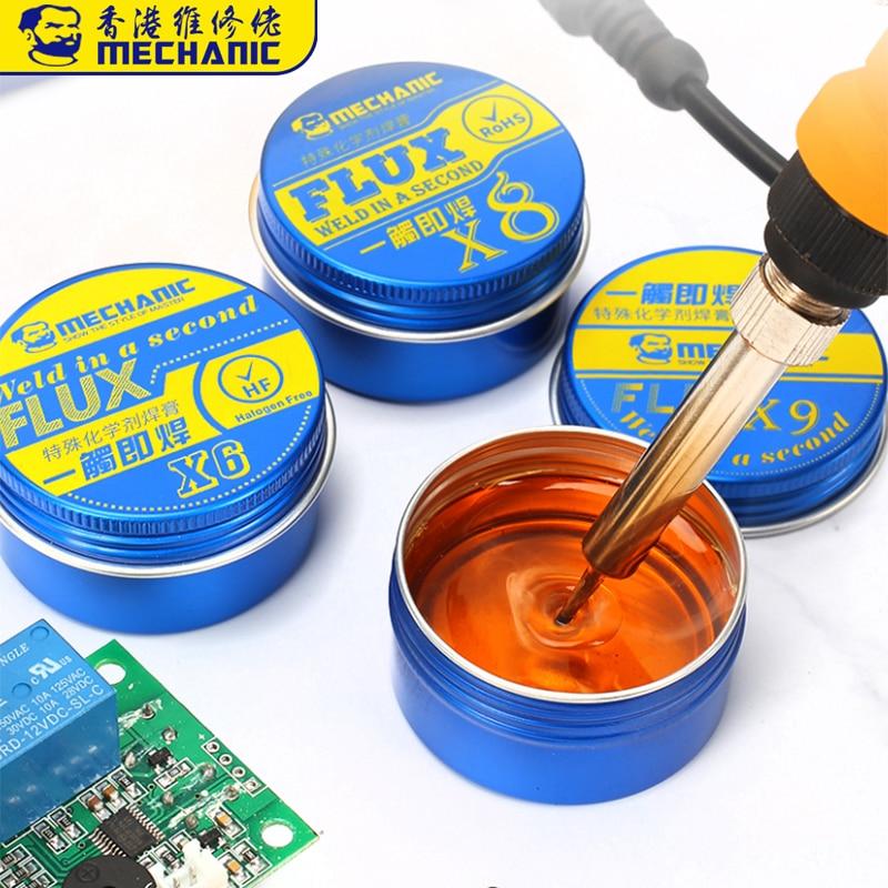 MECHANIC Rosin Flux Solder Paste X6/X8/X9 BGA Soldering Paste Flux For Welding Soldering Iron Fluxes