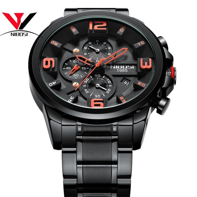 a08171cb0547 Descuento NIBOSI Reloj Hombre 2018 hombres relojes superior de la ...