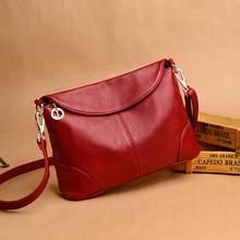 2018 Hot High Quality Women Handbag Luxury Red Messenger Bag Soft Genuine Leather Fashion Ladies Crossbody Bags Female Bolsas