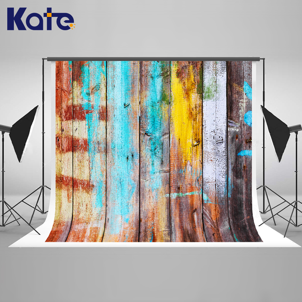 5x7ft Kate Retro Colorful Wooden Wall Photography Backdrops Children Background Photo Studio Child Studio Photography Background retro background christmas photo props photography screen backdrops for children vinyl 7x5ft or 5x3ft christmas033