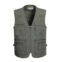 Fishing Waistcoat Sleeveless Zipper Unloading Jacket Outdoor Multi-pockets Hunting Hiking Climbing Photograph Vest ,GA130 zuoxiangru hiking tactical vest fishing vest men s m 6xl multi pockets photography jacket camping multi pockets hunting vest