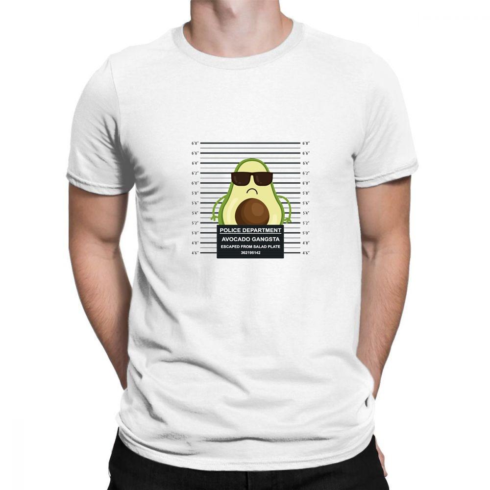 Super Police Plus Size Man T-shirt Cartoon Avocado Pattern Print Short Sleeve Casual Cute Tops Hip Hop Camiseta Mujer Unisex Men