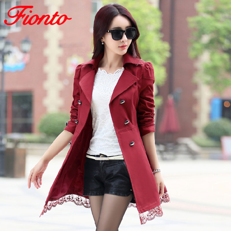 2018 Autumn New Fashion Brand Trench Coat Woman Vinatge Double Breasted Trench Coat For Women Business Outerwear Coat A015a