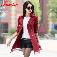2019 Autumn New Fashion Brand Trench Coat Woman Vinatge Double Breasted Trench C