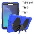 Case para samsung tab e 9.6 t560 criança capa tablet heavy duty robusto impacto híbrido case para samsung t561 protetora capa + Stylus
