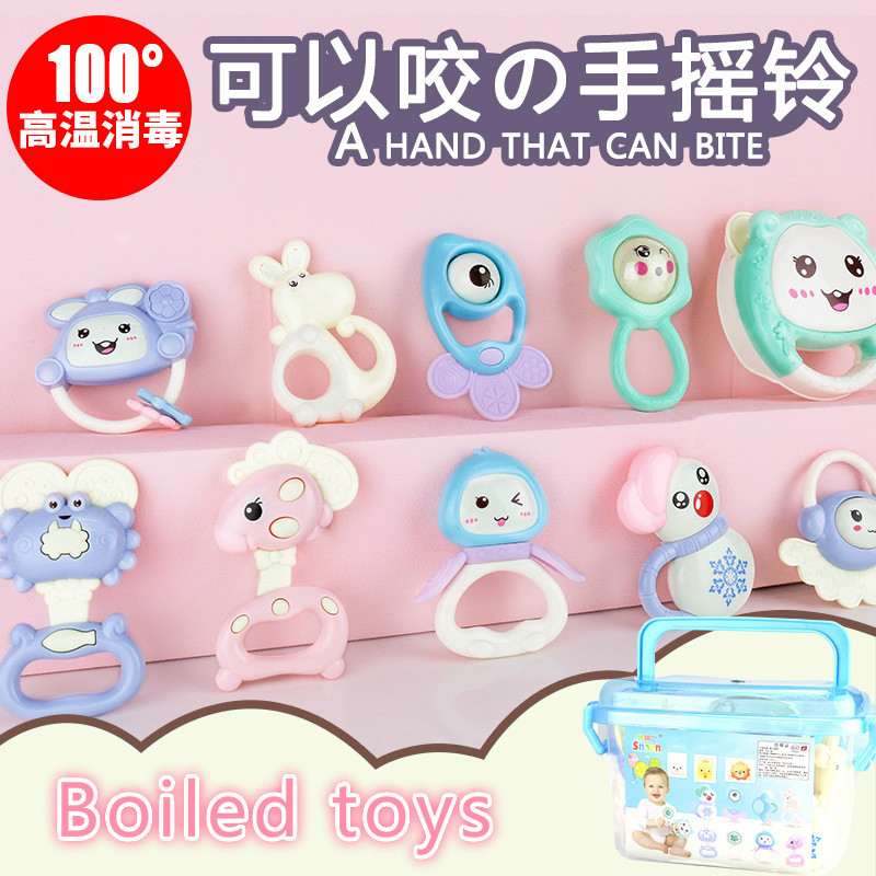 12pcs rattle baby toy 0 3 6 12 months child baby boy girl teether newborn baby toy boiled toys toddler boy toys