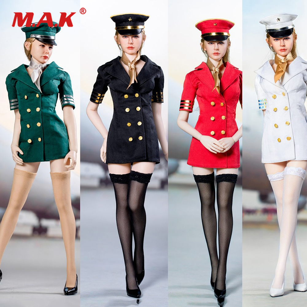 1/6 Scale Sexy Figure Clothes Set Dress & Big Hat & Stockings & High heels Accessory for 12'' Action Figure Body