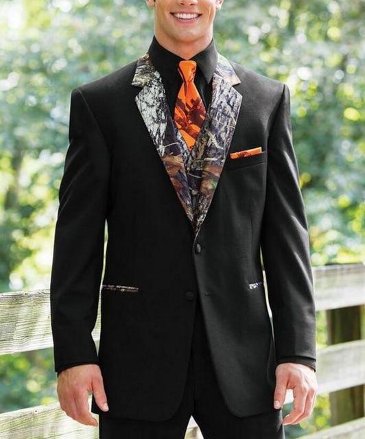 Nouveau Camouflage Tuxedos Unique simple boutonnage Camo hommes costumes de mariage cranté revers marié porter des costumes de bal pour hommes (veste + pantalon
