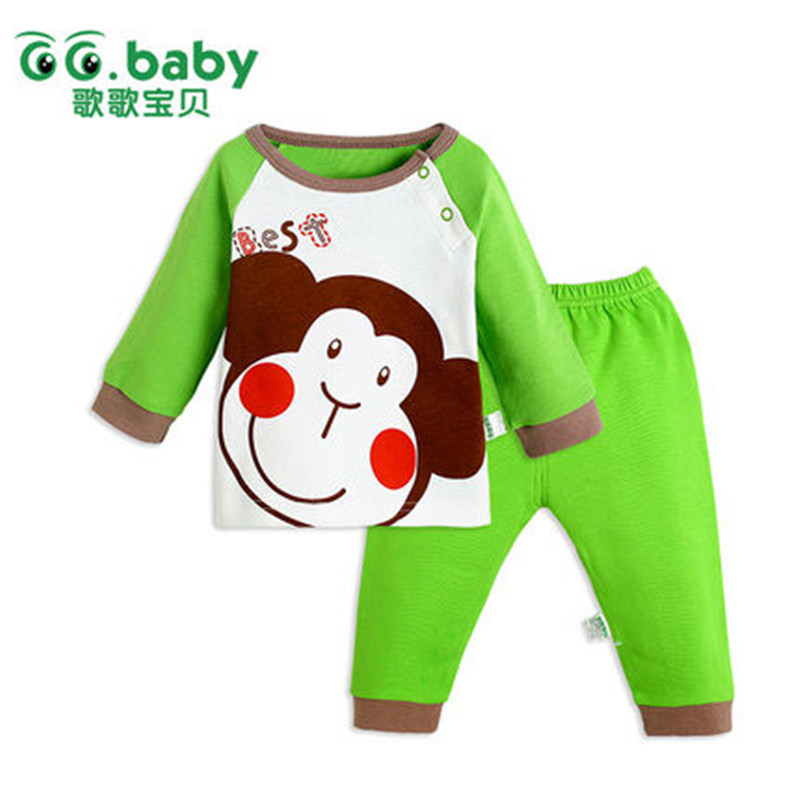 Cotton Original Baby Boy Girl Clothes Set China Casual Autumn Spring Discount Baby Clothing Suit Cute Monkey Newborn Shirt Pants