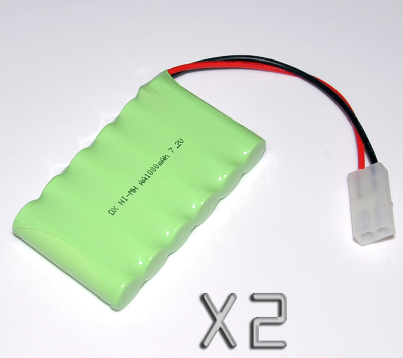 2PCS 7.2V AA 1000mah rechargeable battery pack 2A ni-mh nimh batteries NI MH cell for toys cordless phone A