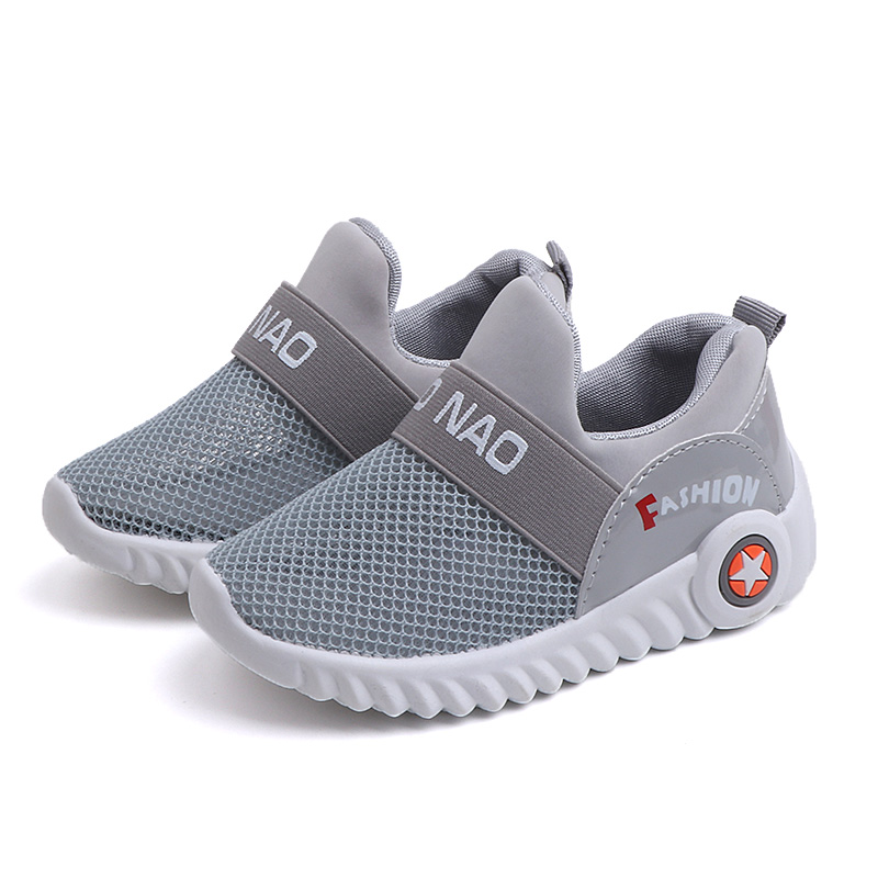 Spring New Kids Sneakers For Mesh Breathable Children Sports Shoes Boys Girls Running Shoes Shock Casual Soft Rubber Sole School