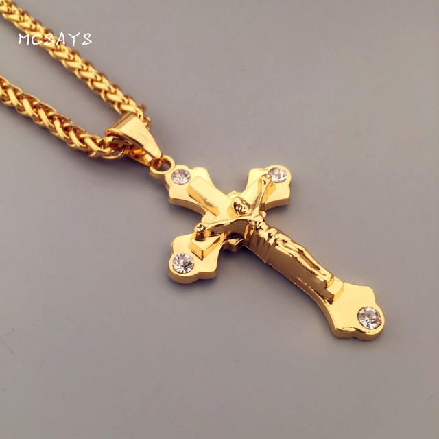 gouden kruis ketting mannen