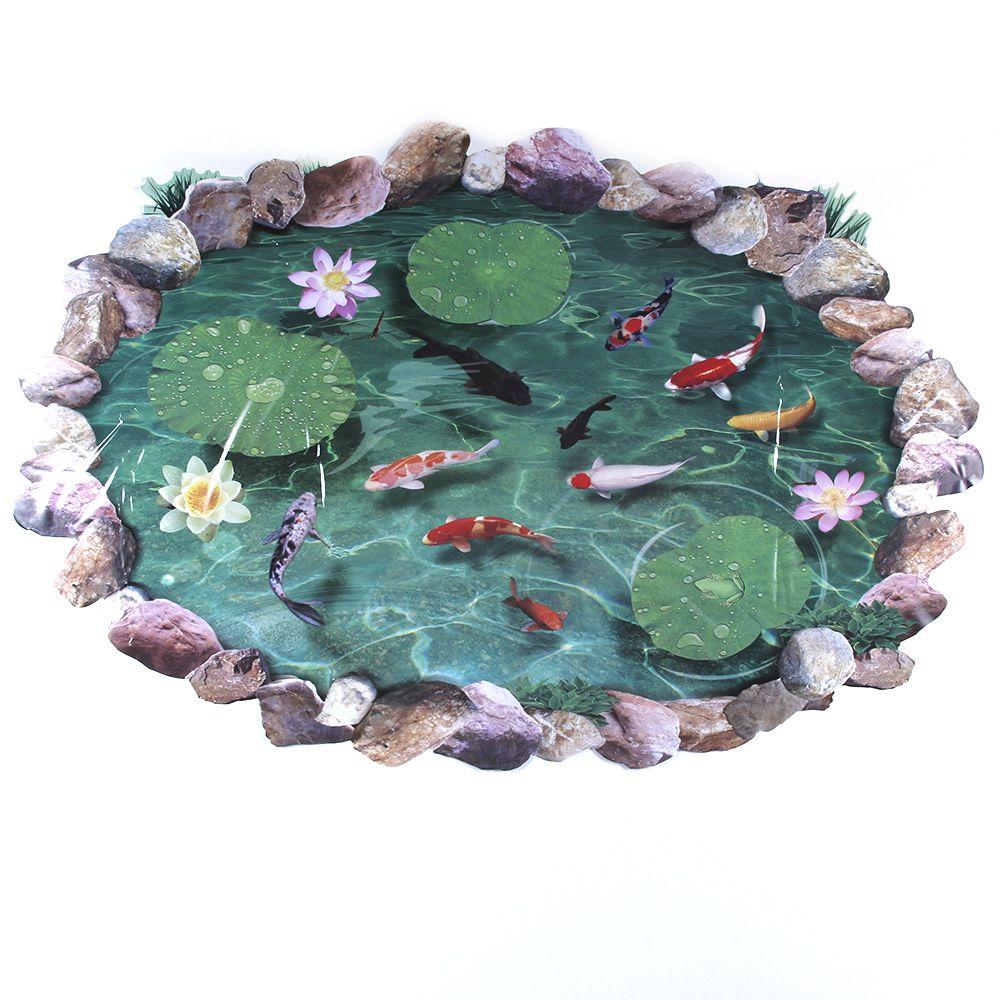 Ehrlichkeit Lesuperay 3d Pool Wandaufkleber Wasserdicht Lotus Pond Fish Für Kinder Badezimmer Startseite Cp Tapeten Schnelle Farbe
