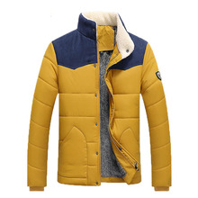 2016 новинка лоскутное хлопка пальто мужские утолщаются имитация овечьей шерсти куртки для jaquetas masculinas inverno 90