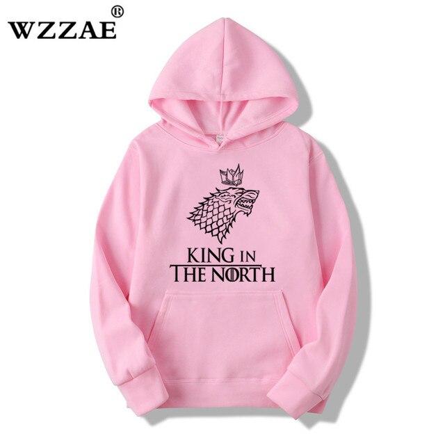 Game of Thrones Wolf hoodies Poleron Hombre Fashion Streetwear Cotton Sweatshirt Pullover Men women Hoodie Sweat mens Hoodies 1
