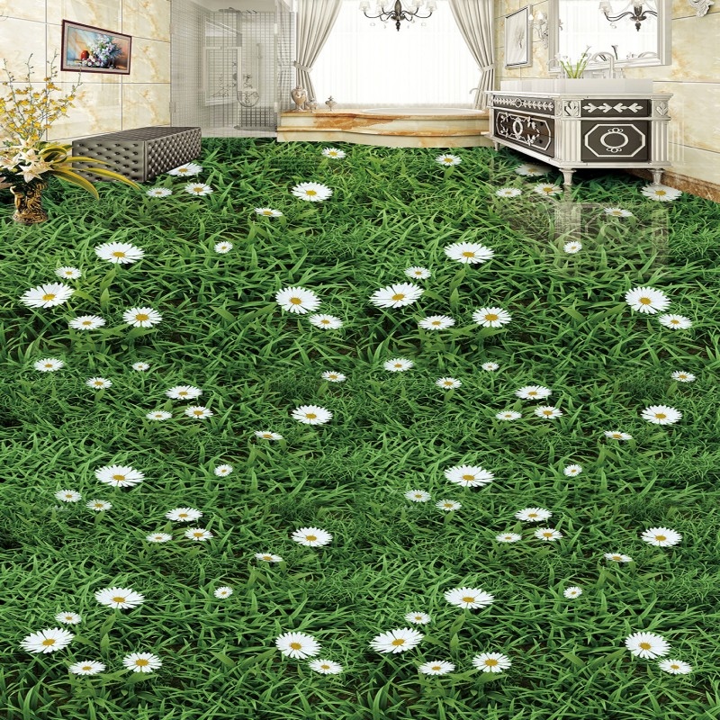 Free Shipping 3D stereo Plant flowers green grass flooring painting living room bedroom lobby wallpaper mural book knowledge power channel creative 3d large mural wallpaper 3d bedroom living room tv backdrop painting wallpaper