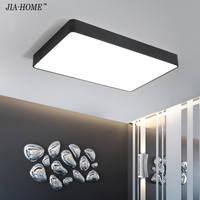 Ceiling Lights Remote Control Dimmable Black Color Indoor Lighting Led Luminaria Abajur For Indoor Decoration
