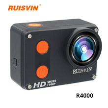 RUISVIN R4000 Action Camera 1080P 60fps Wifi Sports Helmet Cam 10M Go Waterproof Pro Mini Cameras Diving Outdoor Mini Sports DV(China)
