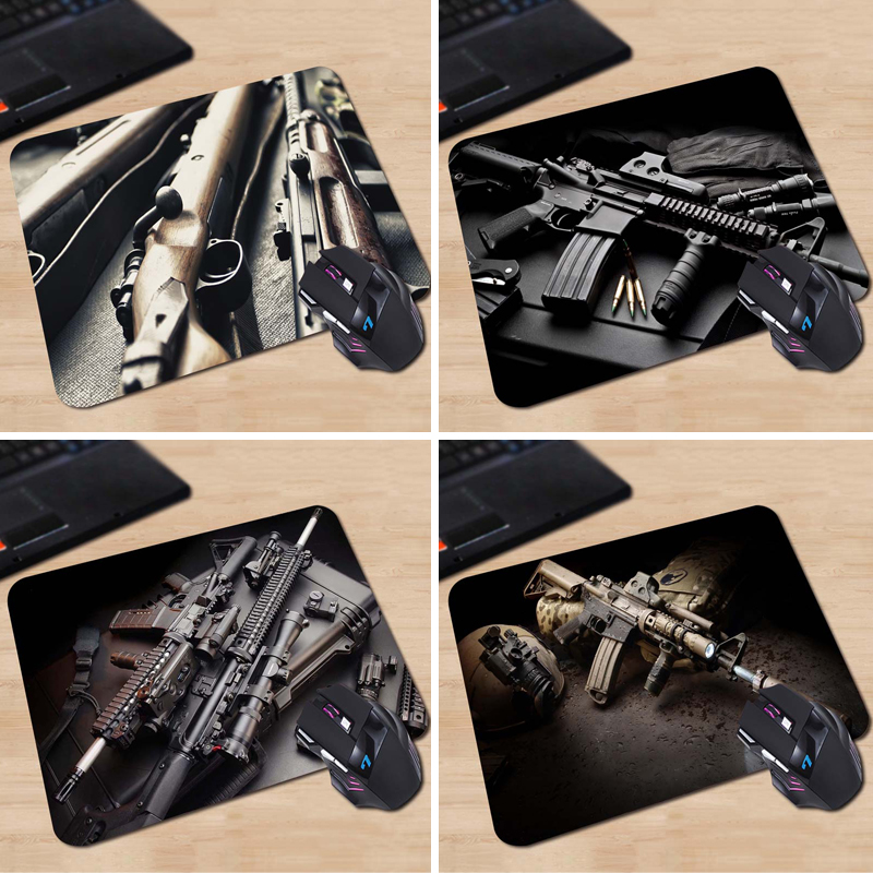 Babaite Sale Mouse Mat Tubber Cool Non-Skid Guns Rifles Animals Cartoon Mouse Pad New Design Two Size 180x220x2mm 250x290x2mm