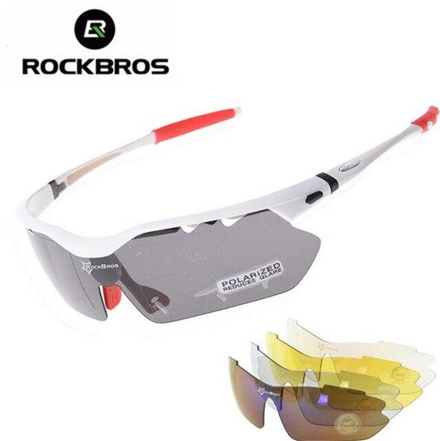 b4a98bedb3 RockBros Polarized Cycling Sunglasses UV400 Sport Glasses Goggles Eyewear Sports  Glasses Sunglasses Goggles 5 Lens